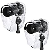 Neewer Protector de Lluvia a Prueba de Polvo e Impermeable para cámaras Canon Nikon Sony Pentax Olymp Samsung Fuji y Otras cámaras DSLR (2Unidades)