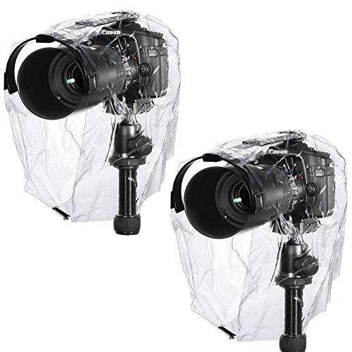 Neewer® Regen-Abdeckungs-Mantel-Staub-fest, Wasserdichte Kamera-Schutz-Regenkleidung für Canon Nikon Sony Pentax Olymp Samsung Fuji und andere DSLR-Kameras (2Stk) (Kamera Wasserdichte Tasche Sony)