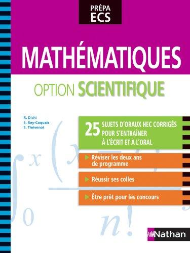 Mathématiques - option scientifique