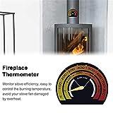 Neckip Magnetthermometer | Kamin Temperaturüberwachung | Steigern Sie Die Effizienz Und Optimieren Sie Den Kraftstoffverbrauch