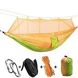 Bobury Parachute Stoff Moskitonetz Schlafen Hängematte 2 Person Anti-Mückenstiche Schlafenbett im Freien kampierende Jagd Hammock