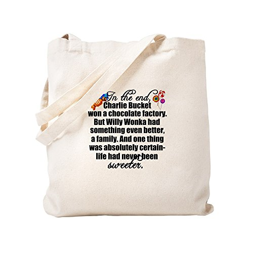 CafePress Willy Wonka Tragetasche, canvas, khaki, S