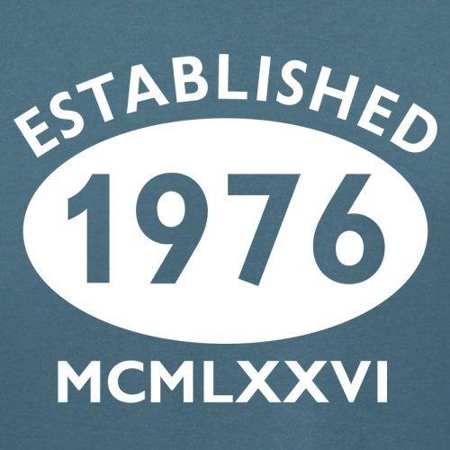 Gegründet 1976 Römische Ziffern - 41 Geburtstag - Damen T-Shirt - 14 Farben Indigoblau