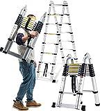 Teleskopleitern DD Vielzweck 3.2-7.2M Tragbare Aluminium Für Home Loft Office, EN131 Zertifiziert, 330 Lb Kapazität/Gerade Leiter/Leiter / A RAHMENLEITER
