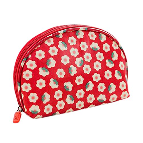 Style coréen sac cosmétique Maquillage Case sac de rangement Beauté fleur Bleu