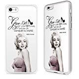 Gadget Zoo® Handyschutzhülle mit berühmten Zitaten, für iPhone 4 4S 5 5S 5 C 6 6S Plus, plastik, Marilyn Monroe Give a girl the right shoes, iPhone 5 5S