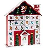 Leonardo WOODEN CHRISTMAS FESTIVE COTTAGE HOUSE XMAS ADVENT CALENDAR