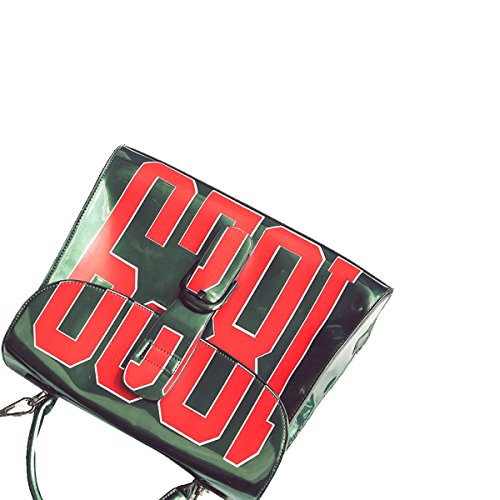 Yy.f Sacchetto Trasparente Gelatina Spalla Messenger Piccola Borsa Marea Sacchetto Di Stampa Elegante Pratico Interno Esterno Ha Colpito Il Sacchetto Di Colore Green