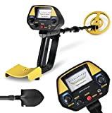 INTEY Pinpoint Metal Detector - Lightweight Gold Digger with Waterproof Coil -Adjustable DISC Metal detectors Plus Folding Shovel & Rucksack for Adults and Beginners as Family Leisure