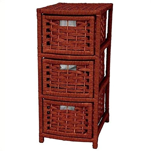 Oriental Möbel 63,5cm Natur Faser gelegentlichen Kommode-Mahagoni - Mahagoni Brust Schubladen