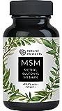 MSM Kapseln - Vergleichssieger 2018* - 365 vegane Kapseln - Laborgeprüft - 1600mg Methylsulfonylmethan (MSM) Pulver pro Tagesdosis - Ohne Magnesiumstearat, hochdosiert, hergestellt in Deutschland