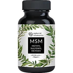51QLwi6 QEL. SS300  - MSM Kapseln - Vergleichssieger 2019* - 365 vegane Kapseln - Laborgeprüft - 1600mg Methylsulfonylmethan (MSM) Pulver pro Tagesdosis - Ohne Magnesiumstearat, hochdosiert, hergestellt in Deutschland
