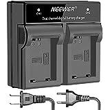 Neewer Cargador de batería Digital LED doble canal para bateria Sony NP-FW50, SONY cámaras NEX-5 NEX-6 7 NEX NEX-C3 NEX-F3 SLT-A33 SLT-A55 A3000 A5000 A6000 A7 A7R A7II, grips VG-C1EM VG-C2EM (Enchufe EE.UU./UE)