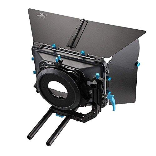 Professionelle Mattebox Abschwenkbare Sonnenschutz für 15mm Rod DSLR Rigs Matte Box Kit mit Universal Lens Donut Set Matte Box Kit