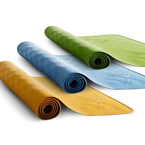 casa pura® Badewanneneinlage Frida | maritimes Muschel-Design | rutschfest | aus Naturkautschuk, PVC-frei | 34 x 74 cm | drei Farben (gelb)