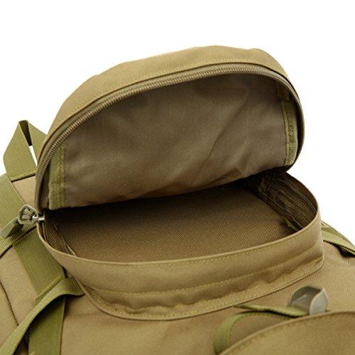 Neu Mode Outdoor Rucksack Tarnung Große Multifunktionale Bergsteigen Tasche desertcamouflage