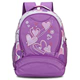 Veevan Sweet Heart Backpacks Girls School Backpacks(Purple)