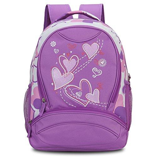 Imagen de veevan  con dulce corazón para niños escolares violado