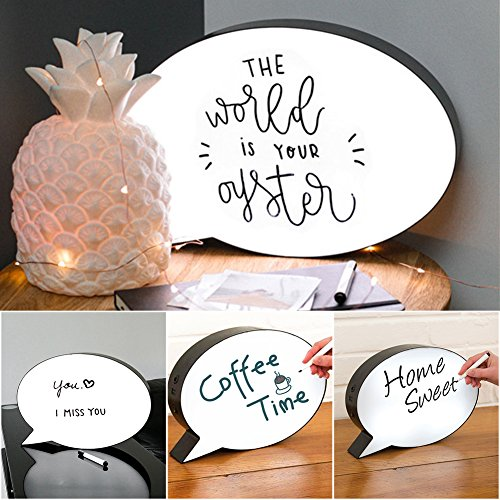 hjuns LED-Licht mit Botschaft, Aufbewahrungsbox für zu Hause, mit Geburtstag Weihnachten Hochzeit-Innen- und Outdoor-Dekoration -