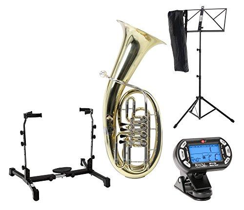 Classic Cantabile Brass B-3146 Bariton SET (Koffer, Mundstück, Reinigungstuch, Baritonständer, Stimmgerät/Metronom, Notenständer)