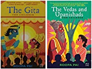The Gita: For Children + The Vedas and Upanishads for Children (Set of 2 books)