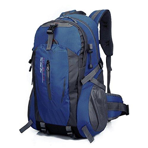 HWJF Klettern Rucksack Multifunktions-Reiten ein Wasserkocher hängen wasserdichte Tasche für Männer und Frauen Outdoor-Sport Reisen Dark Blue