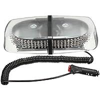 Luz - SODIAL(R)12V 240 LED luz estroboscopica magnetica de advertencia de emergencia luz de flash de bar 20W ambar