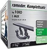 Rameder Komplettsatz, Anhängerkupplung abnehmbar + 13pol Elektrik für Ford C-MAX (142780-06240-1)