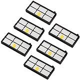 Amoy Filter Ersatz für iRobot Roomba 800 und 900 Serie 980 966 960 865 870 875 876 Ersatzteile, 6er Pack