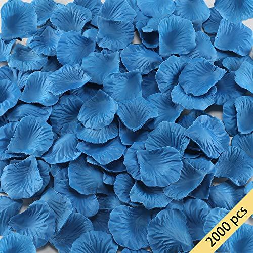 HO2NLE Künstliche Blumen Seiden-Rosenblätter Großhandel Home Party Zeremonie Hochzeit Dekoration Art Deco blau (Der In Party Nähe City Von)