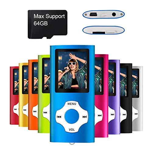 Mymahdi MP3 / MP4 beweglicher Spieler, dunkelblau mit 1.8 Zoll LCD-Schirm und Memory Einbauschlitz, maximale Unterstützung 128GB Memory TF Karte - Micro-mp4-player