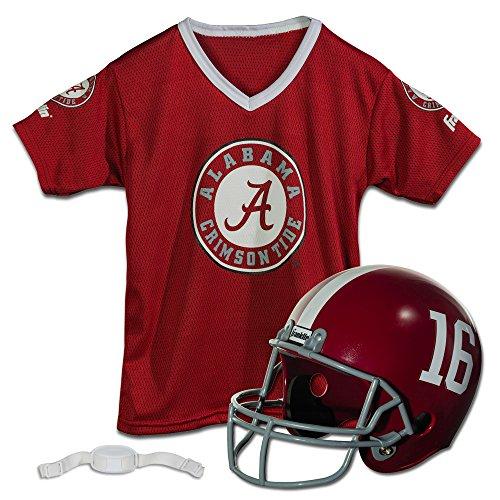 Franklin Sports NCAA Jugend Helm und Trikot-Set, unisex Kinder, Alabama Crimson Tide, (Kostüm Franklin Halloween)