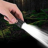 Gransun Linterna al Aire Libre Zoom telescópico Linterna LED Brillante Linterna portátil al Aire Libre Carga USB
