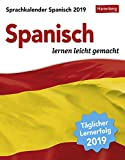 Sprachkalender - Spanisch lernen leicht gemacht - Kalender 2019 - Harenberg-Verlag - Tagesabreißkalender - 12,5 cm x 16 cm