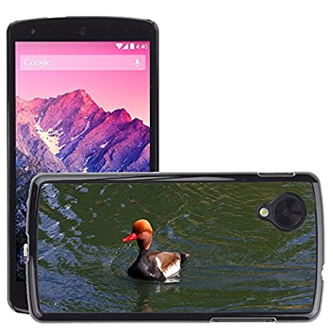 Just Phone Cover Hard plastica indietro Case Custodie Cover pelle protettiva Per // M00139732 Pochard Red Headed Pochard Canard // LG Nexus 5