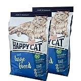 2 x 10 kg Happy Cat Katzenfutter Supreme Large Breed