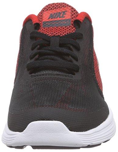 Nike Revolution 3 (Gs), Scarpe da Corsa Bambino, Multicolore Rot (Rot/Schwarz/Weiß)