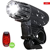 #4: Uniavo USB Rechargeable Waterproof Cycle Light, High 300 Lumens Super Bright Headlight, Free Tail LAMP, LED Front and Rear Lights Combo