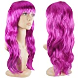 Accessotech Women's Sexy Long Curly Fancy Dress Wigs Cosplay Costume Ladies Full Wig Party