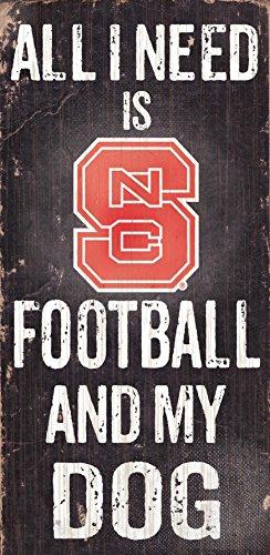 Fan Creations NC State Fußball und My Dog Schild, farbenreiche (Nc-zeichen)