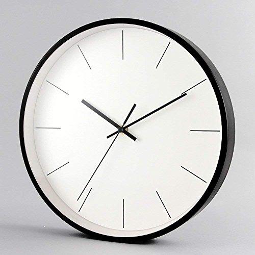BAOBAO Moderne Wanduhr Quarz simplemetal 12 cm minimalistische Einrichtung der Persönlichkeit für Das Schlafzimmer Wohnzimmer - B 12 Zoll