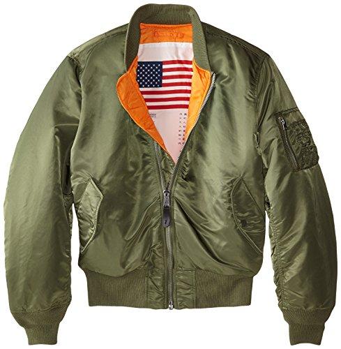 Alpha Industries Men's MA-1 Bomber Blood Chit Flight Jacket, Sage, 3X-Large -