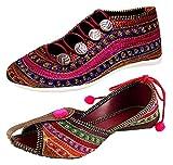 #6: Ziaula Women Flat Ethnic Bellies and Shoes Combo Pack