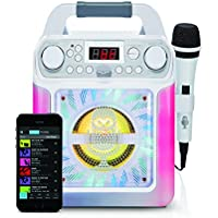 Singing Machine SML650B Bluetooth Karaoke Machine with voice changer and LED lights