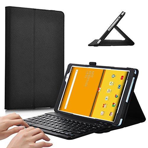 iBetter Odys Wintab Ares 9 Bluetooth Tastatur Hülle Keyboard Case [QWERTZ Tastatur]-tastatur Hülle Ultradünn leicht SmartShell Ständer Schutzhülle mit magnetisch abnehmbar drahtloser Bluetooth Tastatur für Odys Wintab Ares 9 Tablet(Schwarz)