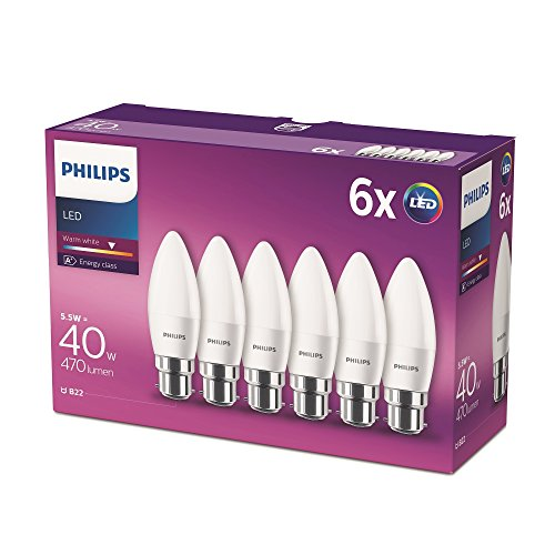 Philips-LED-Candle-Light-Bulb-Frosted-55-W-40-W-Warm-White-Pack-of-2
