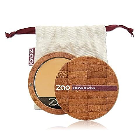 ZAO Compact Foundation 728 helles Ocker hell-beige-gelb, Kompakt-Makeup Grundierung in nachfüllbarer Bambus-Dose (bio, vegan, Naturkosmetik) (Olive Creme Foundation)