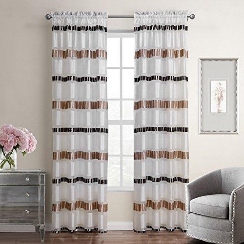 H&M Gardinen Vorhang Hotelschlafzimmer Fenster lichtblockierende Isolierung dekorative frische Bettwäsche gestreifte Vorhänge fertig, c21149, 140x220cm -