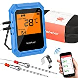 Wireless Meat Thermometer, Bluetooth Cooking Thermometer with 2 Stainless Steel Probes, BBQ Thermometer