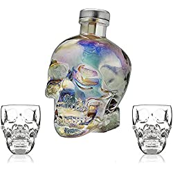 AURORA 70 cl + 2x Skull Plastic Shot Glasses (GIFT SET)